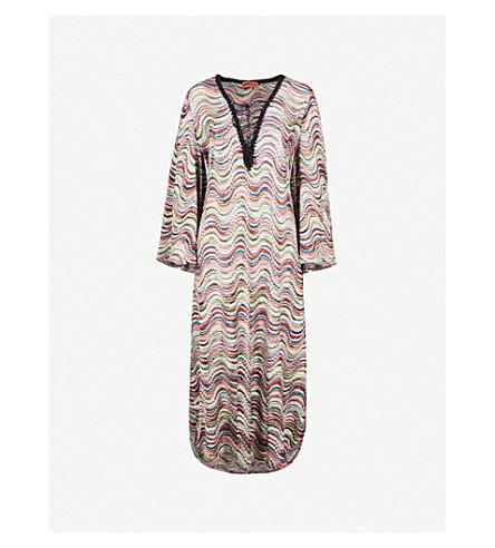 MISSONI Metallic-weave woven beach dress (Multi
