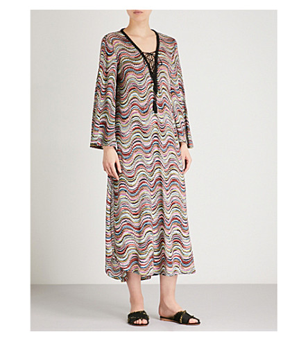 MISSONI Metallic-weave woven beach dress (Multi
