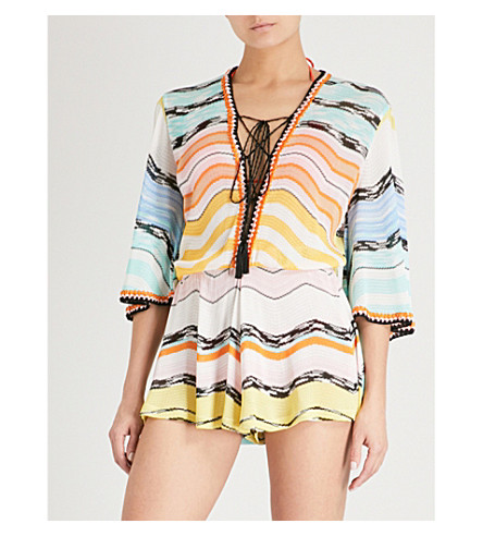 MISSONI Striped woven playsuit (Multi