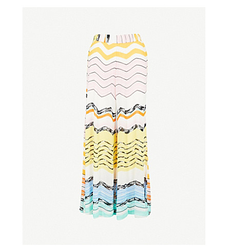 MISSONI Mid-rise wide-leg woven cropped trousers (Multi