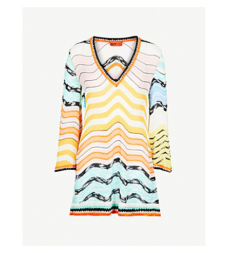 MISSONI Zigzag woven dress (Multi
