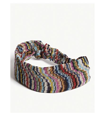 MISSONI Striped head wrap (Multi
