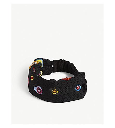 MISSONI Embroidered lace head wrap (Multi