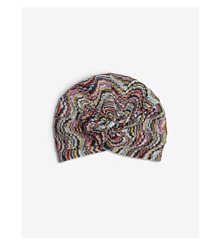 MISSONI Mare metallic multi-coloured stripe turban (Multi