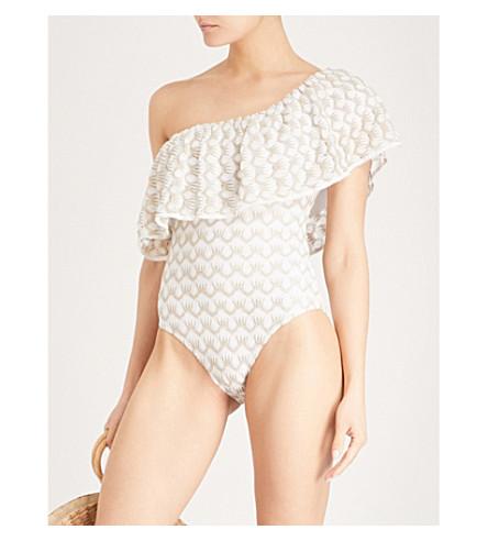MISSONI One-shoulder swimsuit (Cream