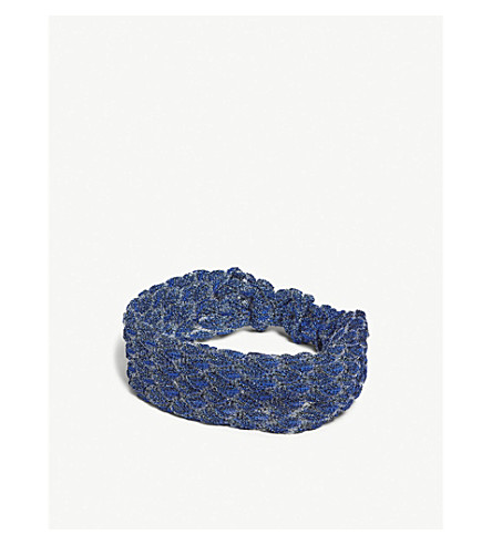 Missoni金属针织头巾 (筋膜 + 种皮