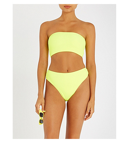 FRANKIES BIKINIS Jenna bandeau bikini top (Yellow