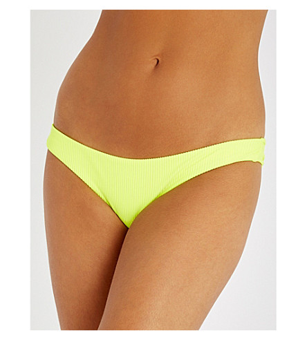 FRANKIES BIKINIS Greer low-rise bikini bottoms (Yellow