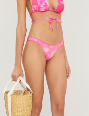 Frankies Bikinis x Sofia Richie Sunny high-rise tie-dye bikini bottoms