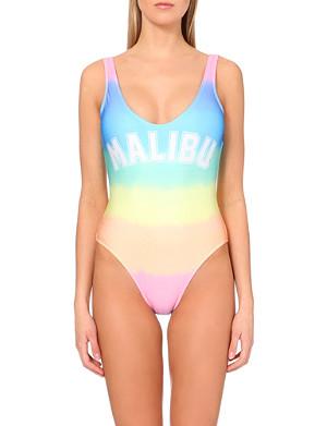 WILDFOX Malibu tie-dyed 80s swimsuit