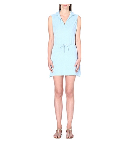 ORLEBAR BROWN Sanremo cotton-terry beach dress (Sky