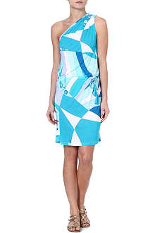 EMILIO PUCCI Printed asymmetric jersey dress
