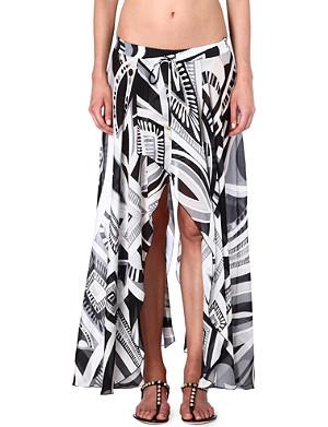 EMILIO PUCCI Printed silk skirt
