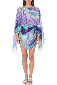 EMILIO PUCCI Abstract-print silk kaftan