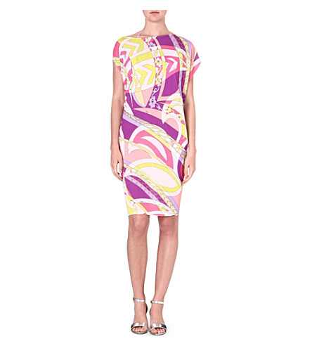 EMILIO PUCCI Printed jersey dress (Geranio/muschio
