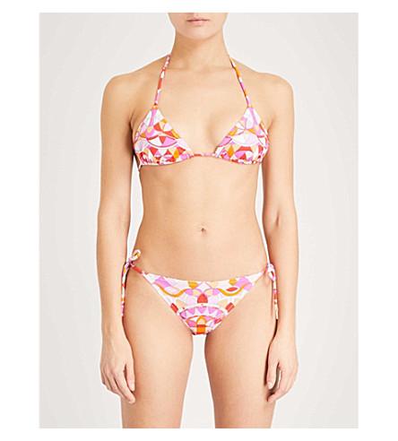 EMILIO PUCCI Signature-print triangle bikini (Arancio