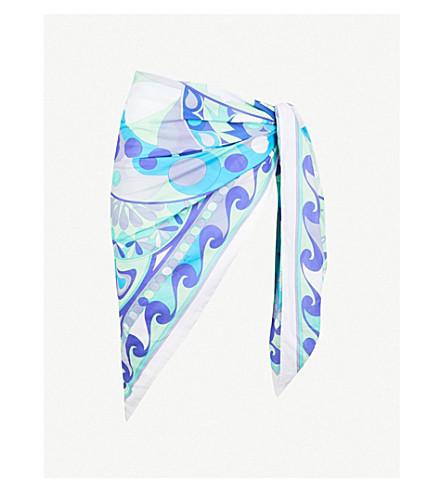 EMILIO PUCCI Geometric-print cotton-voile pareo sarong (Arancio