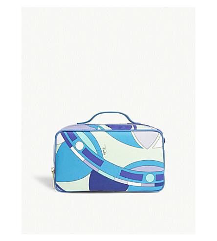 EMILIO PUCCI Geometric print cosmetic case (Turchese