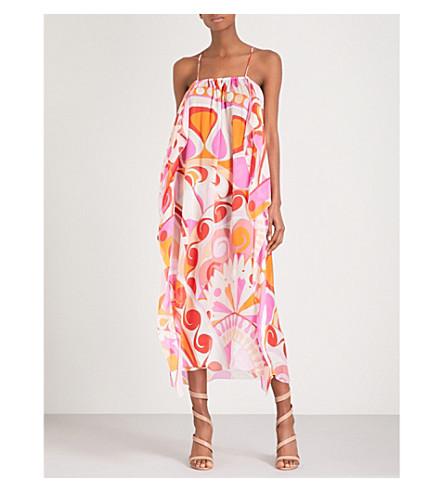 EMILIO PUCCI Signature-print halterneck silk-chiffon dress (Arancio