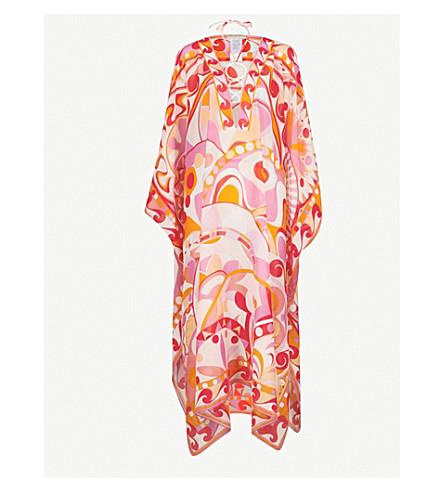 EMILIO PUCCI Geometric-print cotton and silk-blend kaftan (Arancio