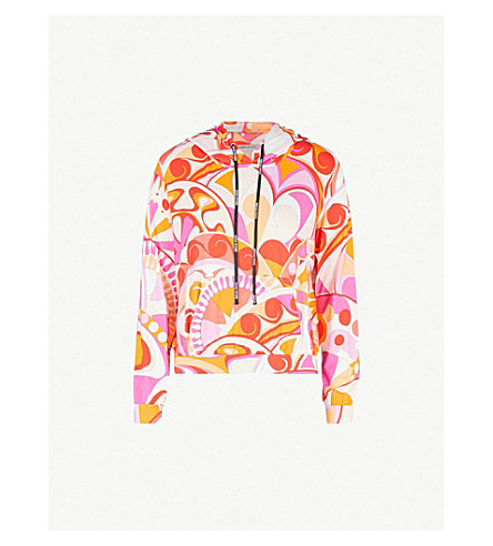 EMILIO PUCCI Maschere-print jersey hoody (Arancio