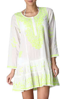 JULIET DUNN Embroidered cotton beach dress