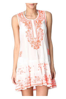 JULIET DUNN Sleeveless cotton beach dress