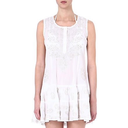 JULIET DUNN Cotton beach dress (White/silver