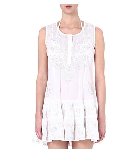JULIET DUNN Cotton beach dress (White/silver