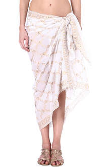 JULIET DUNN Embellished cotton sarong