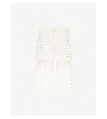 MELISSA ODABASH Adela bandeau mesh dress (Cream