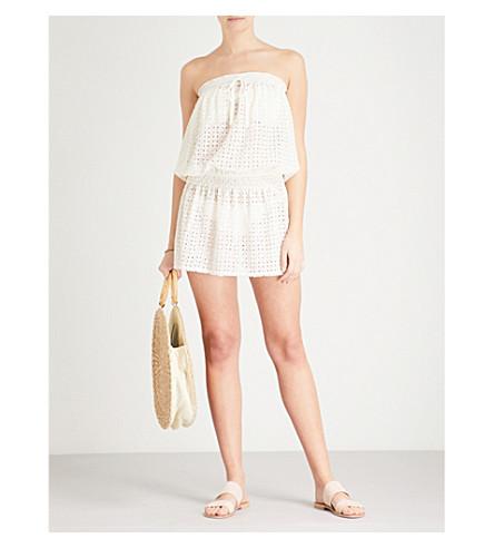 MELISSA ODABASH Adela bandeau mesh dress (Cream