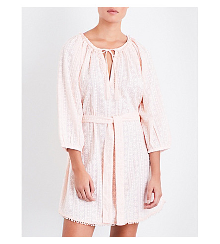MELISSA ODABASH Alicia cotton-broderie anglaise dress (Powder