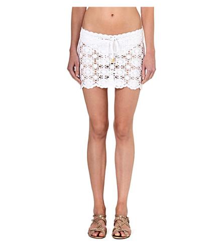 MELISSA ODABASH Amanda crochet skirt (White