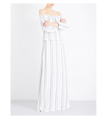 MELISSA ODABASH Amber embroidered dress (Cream+stripe