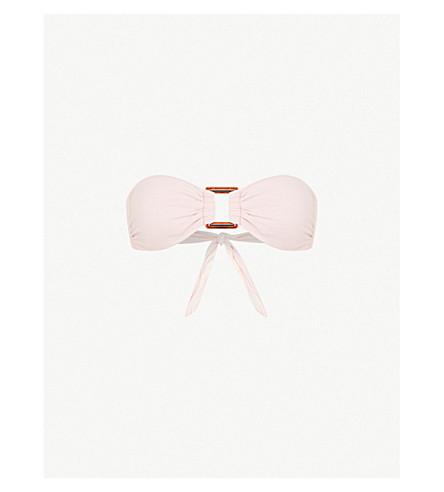 MELISSA ODABASH Angola bandeau bikini top (Pique+pink