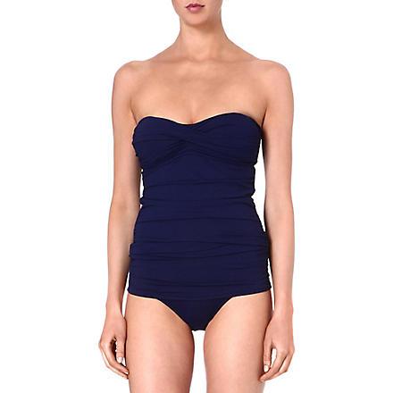 MELISSA ODABASH Antibes ruched swimsuit (Navy