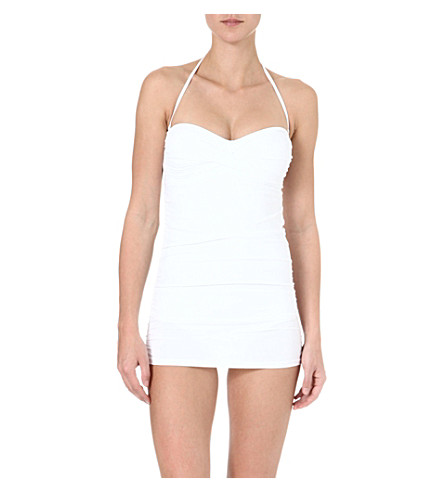 MELISSA ODABASH Antibes ruched swimsuit (White