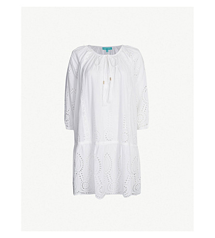 MELISSA ODABASH Ashley embroidered dress (White