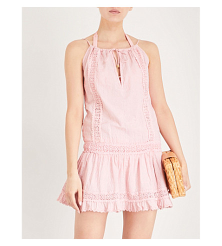 Chelsea algodón bordado MELISSA ODABASH de rosa vestido TwOnq68