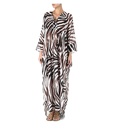 MELISSA ODABASH Coleen long kaftan (Zebra