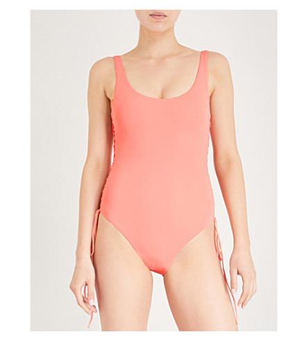 MELISSA ODABASH Cuba corseted swimsuit (Apricot
