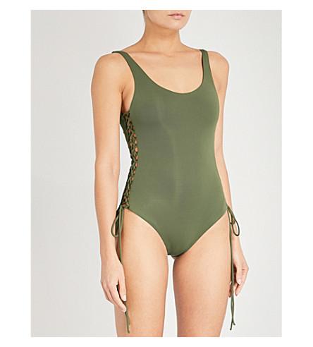 MELISSA ODABASH Cuba swimsuit (Khaki