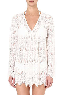 MELISSA ODABASH Short crochet dress