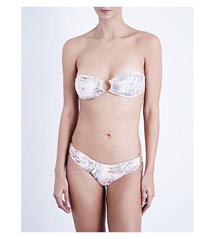 MELISSA ODABASH Evita bandeau bikini top (Lizard