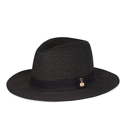 MELISSA ODABASH Fedora hat (Black/black