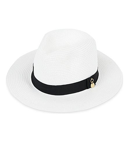 MELISSA ODABASH Fedora hat (White/black