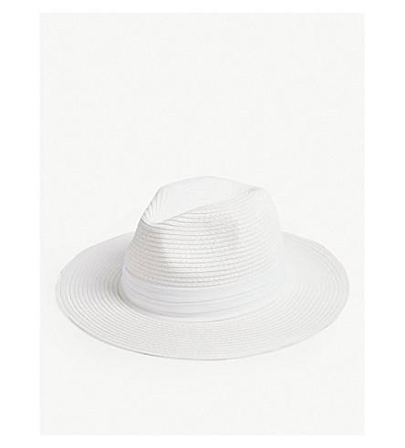 MELISSA ODABASH Fedora hat (White/white