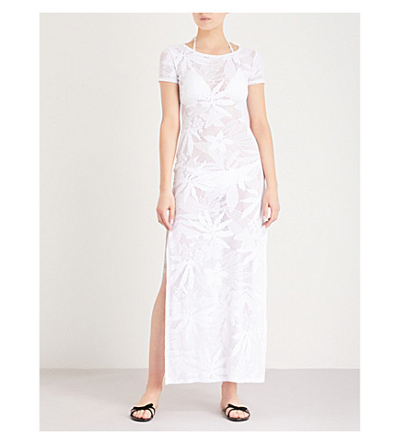 MELISSA ODABASH Fran crocheted maxi dress (White