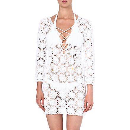MELISSA ODABASH Giselle crochet beach dress (White